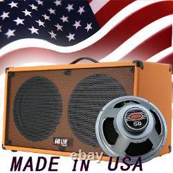 (1) 2x12 Guitar Speaker Cabinet Orange Tolex WithCelestion Rocket 50 Speakers