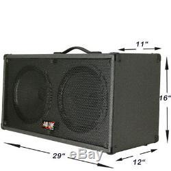 1 2x12 Guitar Spker Cab Charcoal black Tolex WithCelestion Green Back speakers