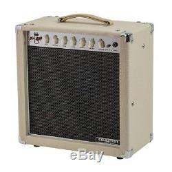15-Watt 1x12 Combo Tube Amplifier EQ with Speaker For Electric Guitar Beige