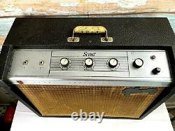 1964 GIBSON Scout Tube Guitar Amplifier GA 17 RVT Footpedal 10 CTS Speaker USA