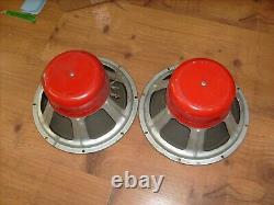 1966 CTS Pair RED Vintage 12 Inch Speaker Woofer for guitar amplifier +