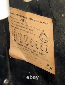 1966 Fender Princeton Reverb Amp, Jensen Speaker Original