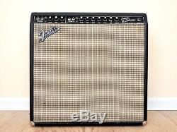 1966 Fender Super Reverb Blackface Tube Amp Ceramic Speakers, Export Transformer