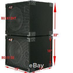 1X12 with tweeter Bass Guitar Speaker Cabinet 350W 8 Ohms Black Carpet 440LIVE