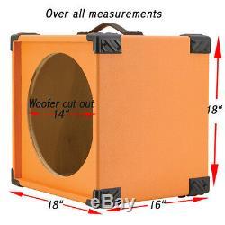 1X15 Bass Guitar Empty Speaker Cabinet Orange Tolex MiniBG115 BOTLX