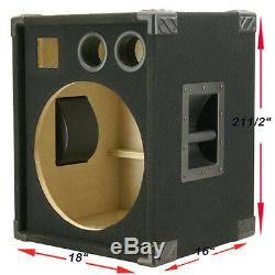 1X15 Compact Empty Bass Guitar Speaker Cabinet Black Carpet 440LIVE BG115HT-JUR