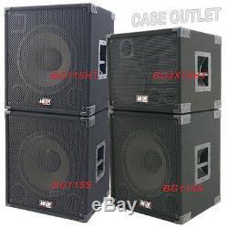 1X15 Empty Bass Guitar Speaker Cabinet Orange Tolex