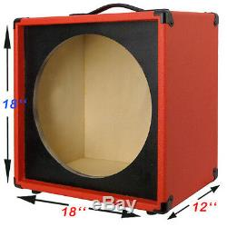 1X15 Empty Guitar Speaker Cabinet For 15 JBL E130-E140 Fire red Tolex
