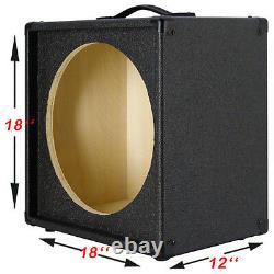 1X15 Empty Guitar Speaker Cabinet For 15 JBL E130 and E140 Bronco Black Tolex
