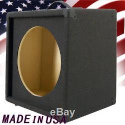 1x12 Empty Guitar Speaker Cabinet charcoal Black Carpet Slanted front G1X12SLBC