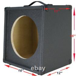 1x12 Extension Guitar speaker Empty cabinet Charcoal Black Tolex G1X12SL-CBTLX