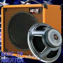 1x12 Guitar Speaker Extension Cab With 16 Ohm CELESTION Seventy 80 Orange Tolex
