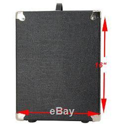 1x12 Guitar Speaker Extension Cabinet Empty Black Elephant Skin Finish Tolex
