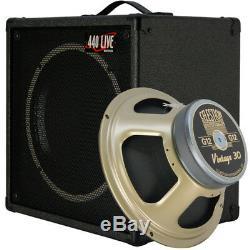 1x12 Guitar Speaker Extension Cabinet With 8 Ohms CELESTION VINTAGE 30 Bk Tolex
