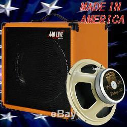 1x12 Guitar Speaker Extension Cabinet With8 Ohm CELESTION Vintage 30 Orange Tolex