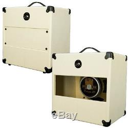 1x12 Guitar Speaker Extension Empty Cabinet Ivory white Texture Tolex G1X12STWT