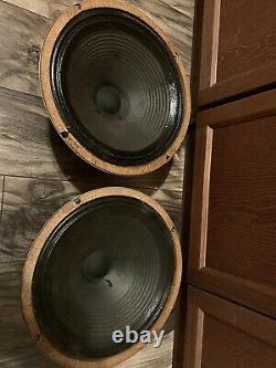 (2) Celestion Rola Greenback G12M 25 Watt 16 Ohm 55Hz 1973 speakers