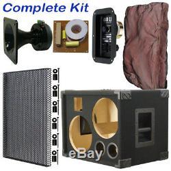 2X10 Bass Guitar Speaker Cabinet Empty, Black Carpet BG2X10HT