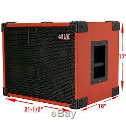 2X10 w tweeter Bass Guitar Empty Speaker Cabinet Fire Red Tolex Black Face