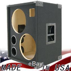 2X12 with Tweeter Empty Bass Guitar Speaker Cabinet Black Carpet BG2X12HT-BC