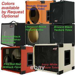 2X12 with Tweeter Empty Bass Guitar Speaker Cabinet Fire Red Tolex BG2X12HTFHrBf