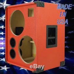 2X12 with Tweeter Empty Bass Guitar Speaker Cabinet Fire hot Red Tolex