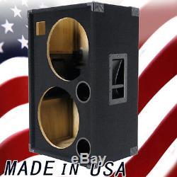 2X15 with Tweeter Empty Bass Guitar Speaker Cabinet Black Carpet BG2X15HTBC