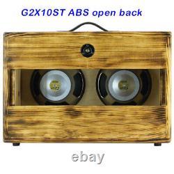 2x10 raw pine afterburn finish Guitar speaker cabinet w Celestion V10 speakers
