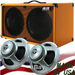 2x12 Guitar Speaker Cabinet Orange Tolex WithCelestion Seventy 80 speakers