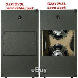 2x12 Vertical Guitar Speaker Cab Charcoal Blk tolex WithCelestion G12T75 Spkr