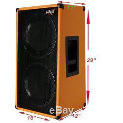 2x12 Vertical Guitar Speaker Cabinet Orange Tolex WithCelestion Greenback Spkrs