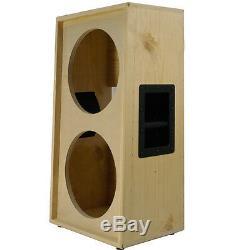 2x12 vertical solid Pine, Raw wood Guitar speaker Empty cabinet G2X12VSL RW