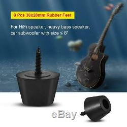 8PCS 3020mm Rubber Feet Pad for Speaker Guitar Amplifier Subwoofer Under 8 Inch