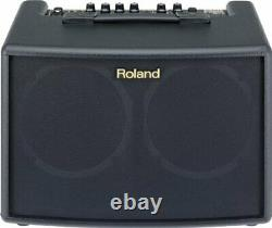 AC-60 Acoustic Chorus Guitar Amplifier with Dual 30-Watt 6.5-inch Speakers, Bla