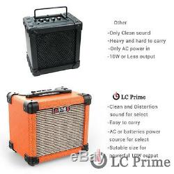 Aroma Guitar Amp 10W Mini Portable Amplifier Speaker Accept 1/4 Guitar Cable