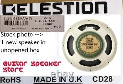 Celestion G10 GREENBACK 8 Ohm 10 inch 30W Guitar speaker UK made NIB