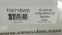 Celestion G12M-65 CREAMBACK 16 Ohm 65W 75hz guitar speaker Made in UK T5871BWD