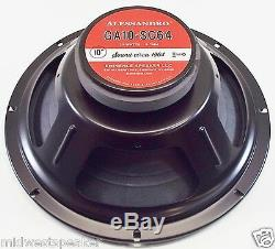 Eminence GA10-SC64 10 Guitar Speaker by George Alessandro 8 ohm FREE SHIPPING