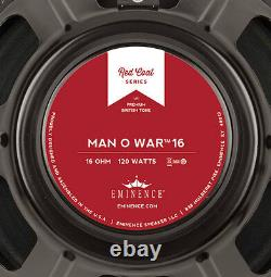 Eminence Man O War 12 Guitar Speaker Red Coat 16 ohm 120W RMS 101dB Replacemnt