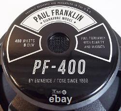 Eminence PF-400 Paul Franklin 15 Guitar Speaker 8 ohm 400 w FREE US SHIPPING
