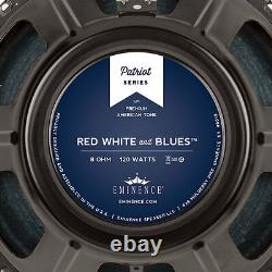 Eminence RED WHITE AND BLUES 12 Guitar Speaker 8 ohm 101dB 1.75 Coil 38oz Mag