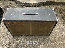 Fender 1967 drip-edge Silverface Bassman Head and Cab 60's Oxford Speakers