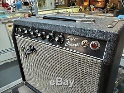 Fender Super Champ Tube Guitar Amp Amplifier 1983-84 S# F320122 10 Ev Speaker