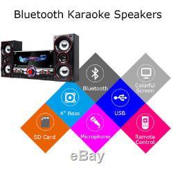Karaoke Machine System bluetooth Speaker PA Jukebox Guitar Amplifier USB MP3 HOT