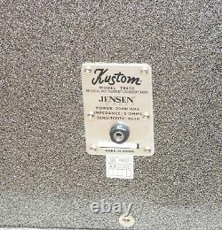 Kustom TR410 4x10 guitar cabinet with Jensen speakers in silver sparkle