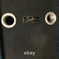 Kustom Tuck n' Roll Vintage 2x12 Speaker Cabinet Blue Sparkle