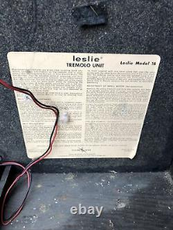 LESLIE Model 16 SPEAKER 60 Watt Guitar Amplifier Fender Vibratone 1969 Blues