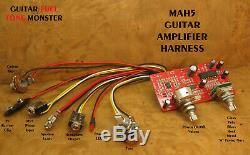 MAH5 Twin Cigar Box Guitar Amp Amplifier Kit 5W Overdrive MP3 HDPH 3.4 Speakers