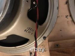 Marshall 1971 4x12 with 25 Watt Greenback Celestion Speakers, Basketweave