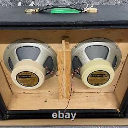 Marshall 1974 JMP Model #2045 2x12 Checkerboard Speaker Cabinet Black Tolex